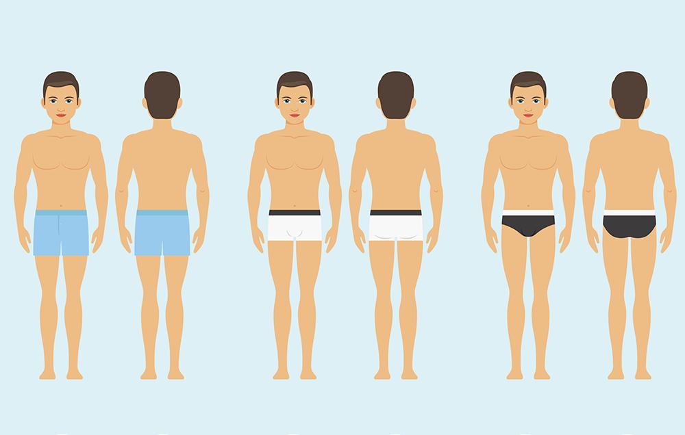 Советы по подбору размера мужского нижнего белья