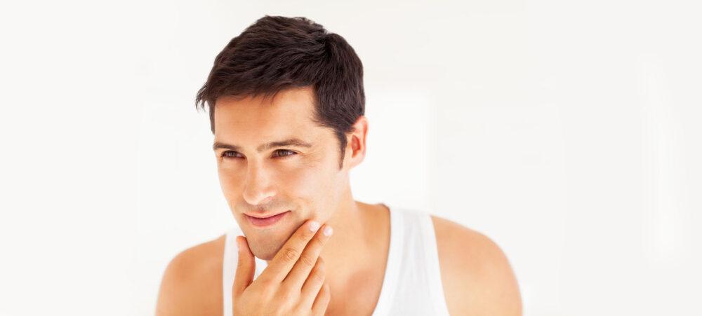 Прыщи на подбородке у мужчин. Какие факторы влияют на появление и методы лечения