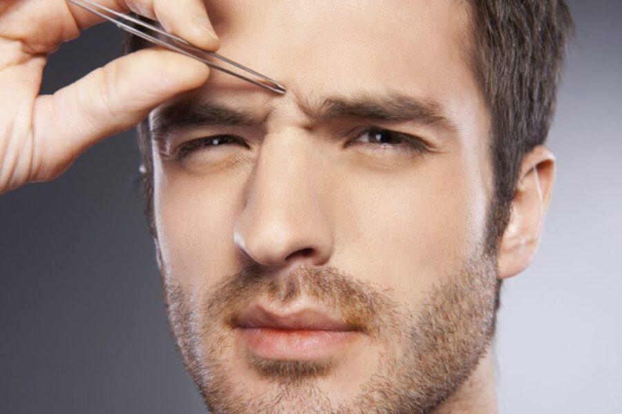 Мужская коррекция бровей. Форма, стрижка, уход и советы