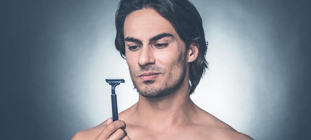 Как мужчине брить пах