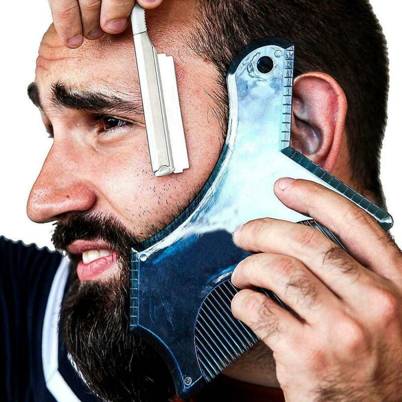трафарет для подравнивания мужской бороды