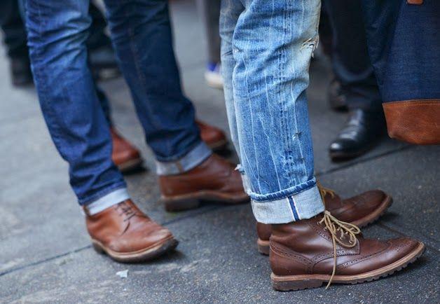 подворот джинс мужских