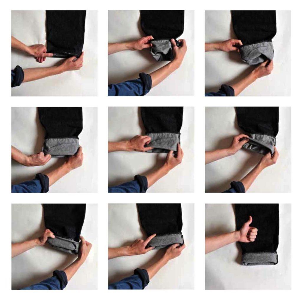 способ укоротить мужские джинсы