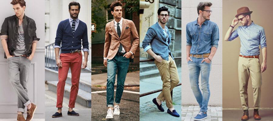 Синий цвет в одежде мужчины