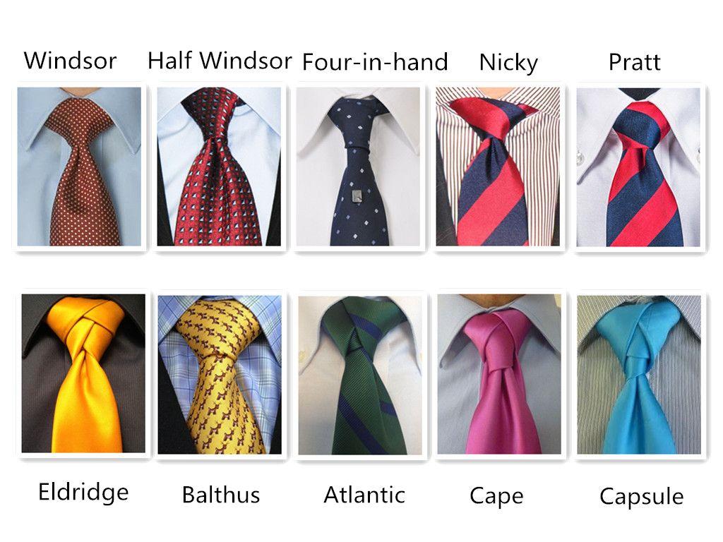 виды узлов галстука