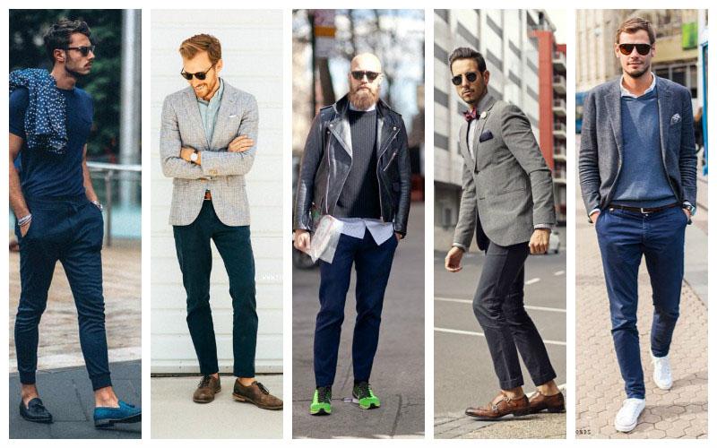 Темного цвета брюки чинос