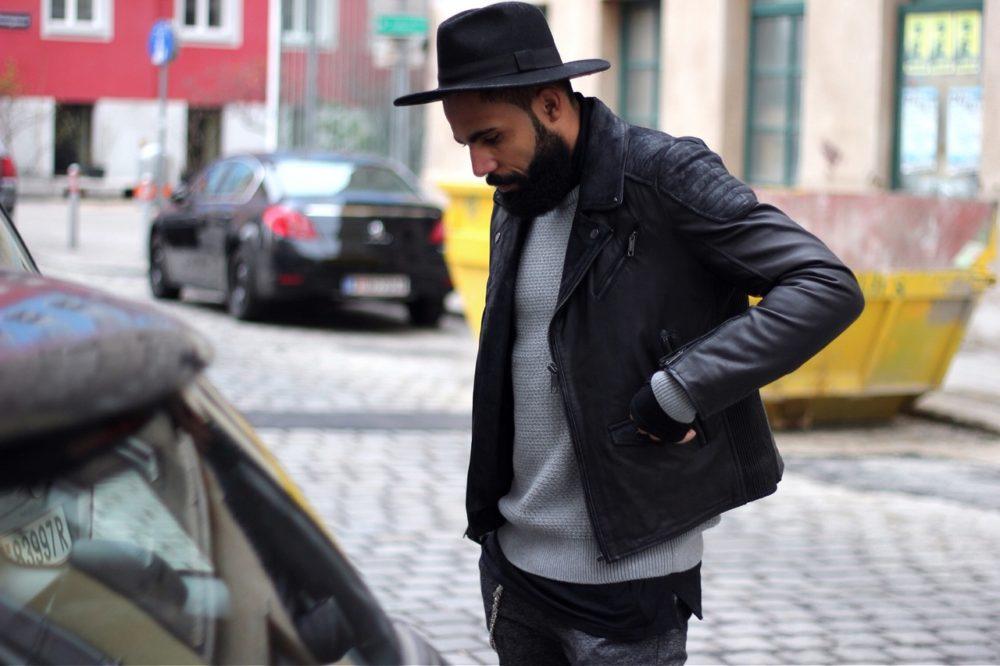 Как носить кожаную куртку мужчине