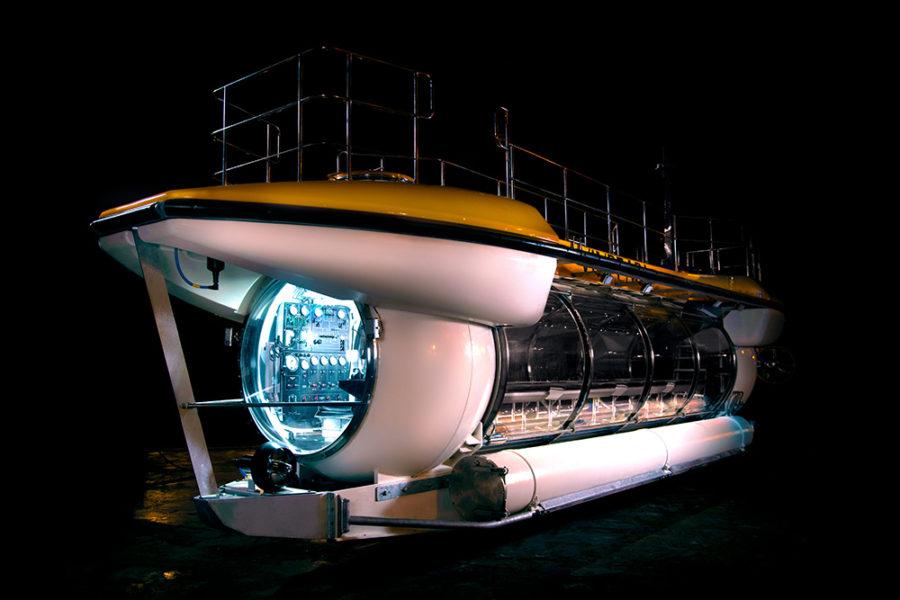 Triton Deepview - электрическая подводная лодка на 66 пассажиров, которая может достигать глубины 100 метров