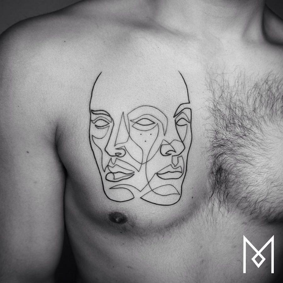 Минималистичные татуировки от Mo Ganji