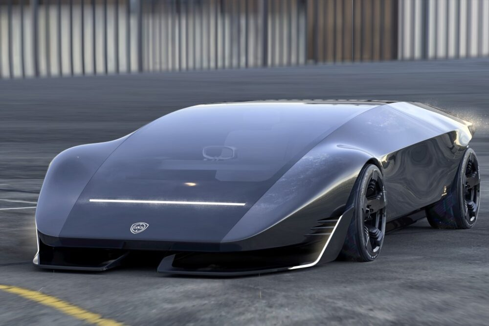 Футуристический концепт Lancia Stratos Zero в форме клина