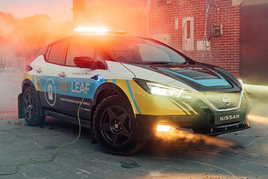 Концепт Nissan RE-LEAF - электрический автомобиль для экстренного реагирования
