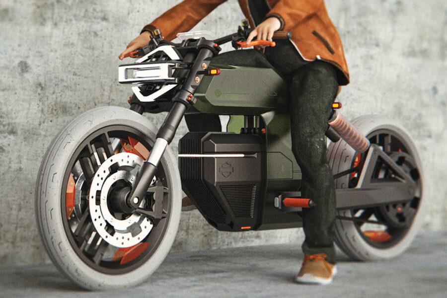 Электробайк от Harley-Davidson со сменными аккумуляторами
