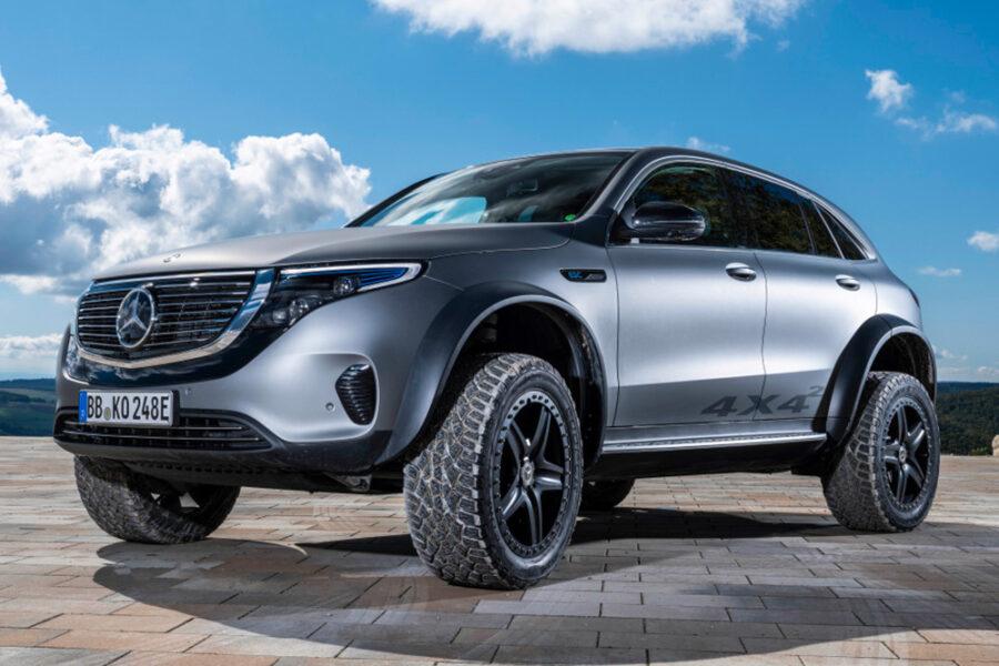 Mercedes-Benz EQC 4 × 4² - полностью электрический внедорожник, способный преодолевать любое бездорожье